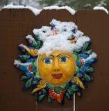 Gezicht in de Sneeuw Stock Afbeeldingen