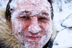 gezicht in de sneeuw Royalty-vrije Stock Foto