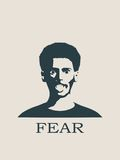 Gezicht die in Vrees gillen Het gillen in Vrees Emoji royalty-vrije illustratie