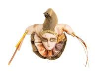 Gezicht in een Venetiaans masker Stock Foto's