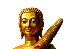 Gezicht gouden Boedha royalty-vrije stock foto