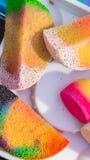 Gezicht het schilderen schoonheidsmiddelen royalty-vrije stock foto