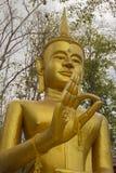 Gezicht, hoofd, hand, Gouden Beeld van Boedha thailand Stock Fotografie
