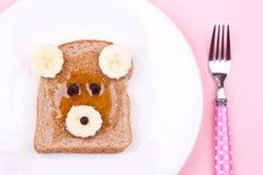 Gezicht op brood voor ontbijt royalty-vrije stock foto's