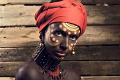 Gezicht van Afrikaanse vrouw Stock Foto's