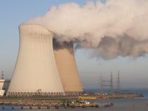 Gezicht van atoomonderzoek stock afbeeldingen