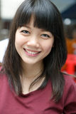Gezicht van Aziatische vrouwen aardige emotie Stock Fotografie
