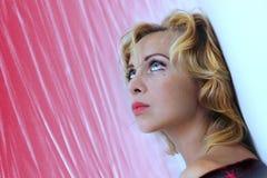 Gezicht van blond meisje Stock Fotografie