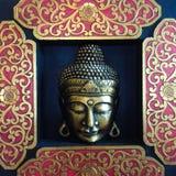 Gezicht van Budha stock afbeeldingen