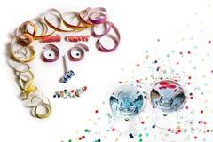 Gezicht van Carnaval-Decoratie Royalty-vrije Stock Foto's