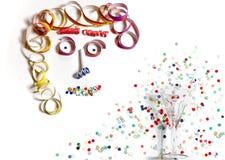 Gezicht van Carnaval-Decoratie Royalty-vrije Stock Afbeelding