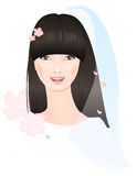 Gezicht van Chinese bruid royalty-vrije illustratie