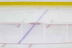 Gezicht-van cirkel bij een ijshockeyarena Stock Afbeeldingen