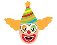 Gezicht van clown, pictogram Vector illustratie royalty-vrije illustratie