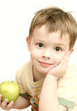 Gezicht van de aardige jongen met g Royalty-vrije Stock Foto