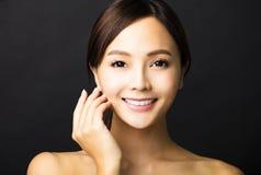 Gezicht van de close-up het Mooie jonge vrouw Royalty-vrije Stock Afbeelding