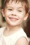 Gezicht van de gelukkige jongen Stock Foto's