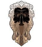 Gezicht van de gods het oude mens Royalty-vrije Stock Afbeelding
