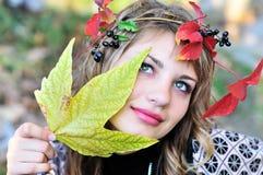 Gezicht van de herfst royalty-vrije stock fotografie