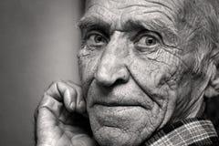 Gezicht van de oude man Stock Afbeelding