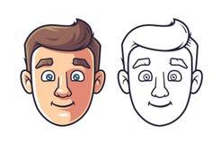 Gezicht van een jonge mens vector illustratie