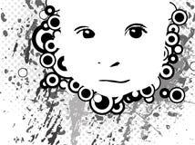 Gezicht van een klein kind Royalty-vrije Stock Afbeeldingen