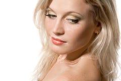 Gezicht van een mooi jong blonde meisje Royalty-vrije Stock Foto