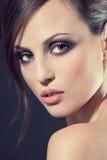 Gezicht van een mooi jong meisje Royalty-vrije Stock Afbeeldingen