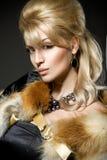Gezicht van een mooie jonge blonde vrouw Stock Afbeelding