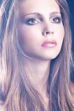 Gezicht van een mooie vrouw Royalty-vrije Stock Foto's