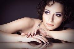 Gezicht van een mooie vrouw Royalty-vrije Stock Afbeelding