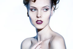 Gezicht van een mooie vrouw Royalty-vrije Stock Fotografie