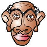 Gezicht van een zwarte mens royalty-vrije illustratie