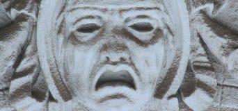 Gezicht van god van dood Hades (standbeeld) stock foto