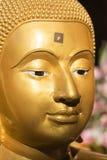 Gezicht van Gouden Boedha Royalty-vrije Stock Foto