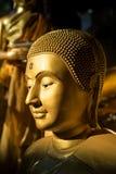 Gezicht van Gouden Boedha Stock Afbeelding