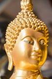 Gezicht van Gouden Boedha Stock Afbeeldingen