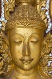 Gezicht van gouden budda Royalty-vrije Stock Afbeeldingen