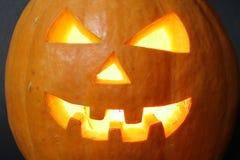 Gezicht van Halloween pompoen Royalty-vrije Stock Afbeeldingen
