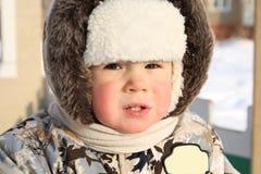 Gezicht van het kleine kind royalty-vrije stock foto's