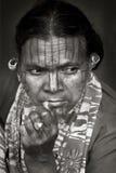 Gezicht van Indische stammen Stock Afbeelding