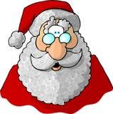Gezicht van Kerstman 1 Stock Afbeelding
