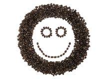 Gezicht van koffiebonen Stock Afbeeldingen