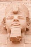 Gezicht van Ramses II, Abu Simbel, Egypte. royalty-vrije stock afbeelding