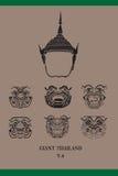 Gezicht van Thaise Reus Royalty-vrije Stock Afbeelding