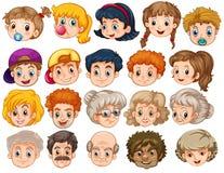 gezichten stock illustratie