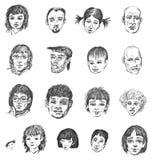 gezichten Stock Afbeeldingen
