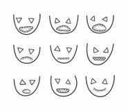 gezichten Royalty-vrije Stock Afbeeldingen