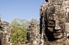 Gezichten bij Tempel Bayon Stock Afbeelding