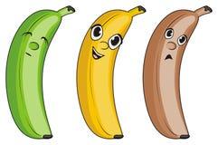 Gezichten van bananen Royalty-vrije Stock Afbeeldingen